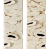 Soft Cell Tissue Silence [diptych] - by Jessica Drenk - Toilet paper and wax - 45 x 12 x 4 inches - year 2013 - at Paia Contemporary Gallery