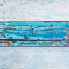 #123 - by Al Schwartz - acrylic on panel - 48 x 24 x 2.75 inches - year 2012 - at Paia Contemporary Gallery