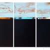 #300-301-302 - by Al Schwartz - acrylic on panel- 24 x 36 x 2 inches - year 2013 - at Paia Contemporary Gallery