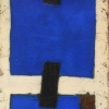 Blue Cubic Lapis Lazuli - by Bill Moore - Mixed Media on Canvas - 60 x 15 inches - year 2012 - at Paia Contemporary Gallery