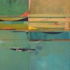 Look Around Outside This Room - by Brad Huck - mixed media on panel - 29.5 x 48 inches - year 2012 - at Paia Contemporary Gallery