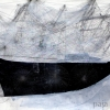 Meditatition Ship 1 - by Jinwon Chang - 22 x 30 inches - acrylic and pencil on paper - year 2006 - at Paia Contemporary Gallery