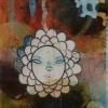 Adventitious Bud - by Brad Huck - mixed media with wax on panel - 21.5 x 8.5 inches - year 2010 - at Paia Contemporary Gallery