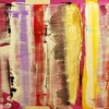 Colouring Core - by Scott Plear - mixed media on canvas - 15 x 52.5 inches - Year 2011 - at the Paia Contemporary Gallery