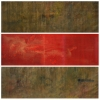 Silence Day I II & Red [horizontal triptych] - by 1 Wayan Karja - acrylic on canvas - 24 x 71 inches each - 2007 & 2008 - at Paia Contemporary Gallery
