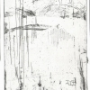 Winter # 1 - by Sharon Lindenfeld - 4.5 x 5 in Etching - 2005 - Paia Contemporary Gallery