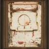 696 Behind Closed Doors - by Randall Reid - steel & paint - 8.5 x 7.5 x 2 inches - at Paia Contemporary Gallery