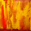 Solaris Core - by Scott Plear - mixed media on canvas - 28.5 x 66 inches - Year 2011 - at the Paia Contemporary Gallery