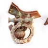 Mnemonic 8 - by Stephen Freedman - 4x6x4 inches - porcelain with celadon - year 2011 - at Paia Contemporary Gallery
