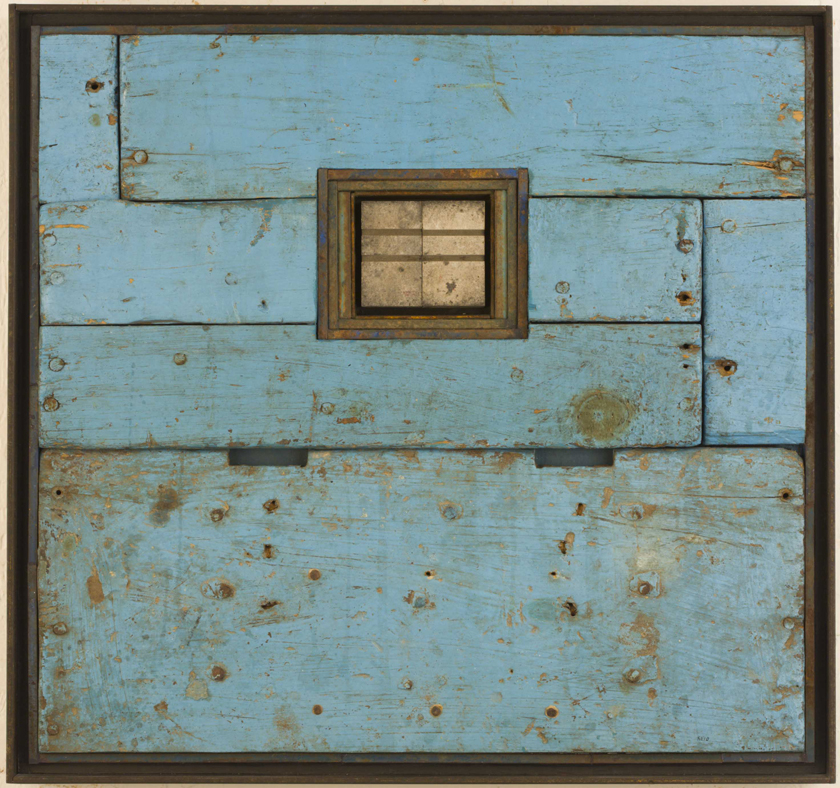 664 Blue Wood – by Randall Reid – mixed media – 15 x 16 x 2 inches – Year 2007 – at Paia Contemporary Gallery